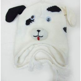48 Units of Dalmatian Knit Hat - Winter Animal Hats