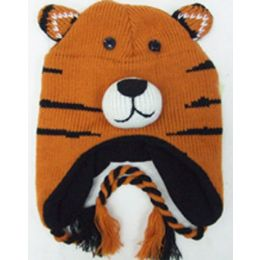 48 Units of Knit Animal HaT-Tiger - Winter Animal Hats