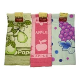 144 Units of KITCHEN TOWEL ASST COLORS - Kitchen Towels