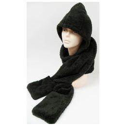 24 Units of Fleece Scarf Hat - Winter Hats