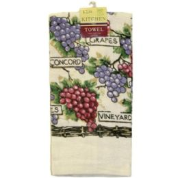 144 Units of ASSTED PRINTED KITCHEN TOWEL 15x25 IN - Kitchen Towels