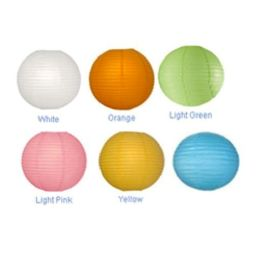 96 Units of 16IN ASSORTED LIGHT COLOR PAPER LANTERN - Hanging Decorations & Cut Out
