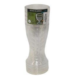 96 Units of 5pc Plastic Wine Glasses - Plastic Drinkware