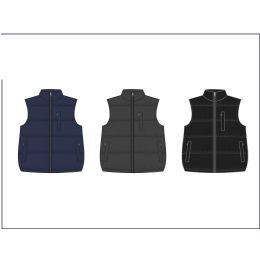 12 Units of MEN'S REVERSIBLE NYLON FLEECE VEST - Mens Jackets