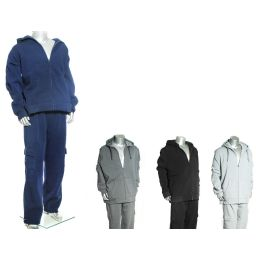 16 Units of MEN'S HEAVY PADDED FLEECE SET W/ CARGO TOP AND BOTTOM - Mens Sweatpants