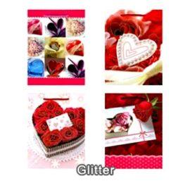 288 Units of MEDIUM LOVE GLITTER BAG # 3
