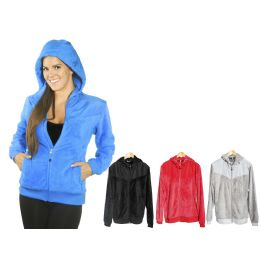 12 Units of Women's Fur Polar Fleece Jacket W/hoodie - Women's Winter Jackets
