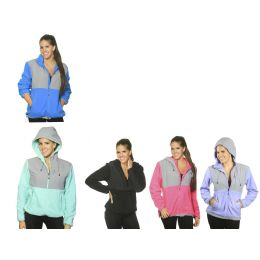 12 Units of Women's Polar Fleece Jacket W/hood - Women's Winter Jackets