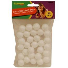 96 Units of 30pc .75in Foam Craft Balls - Foam & Felt
