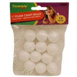 144 Units of 12pc 1in Foam Craft Balls - Foam & Felt