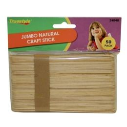 96 Units of 50PC JUMBO NATURAL CRAFT STICKS(size:150 - Craft Wood Sticks and Dowels