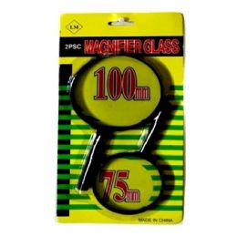 120 Units of 2PC MAGNIFYING GLASS 100MM AND 75MM - Magnifying  Glasses