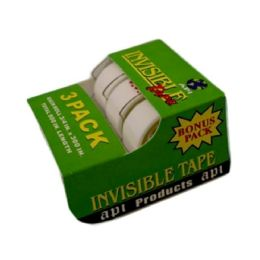144 Units of 3pack Tape Invisible .75in X 300in - Tape