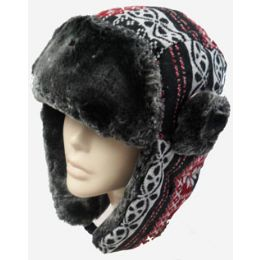 48 Units of Snow Flake Aviator Hat - Trapper Hats