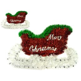 96 Units of Christmas Sleight Garland - Hanging Decorations & Cut Out