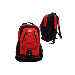 "24 Units of 18"" Backpack Black With Red - Backpacks 18"" or Larger"
