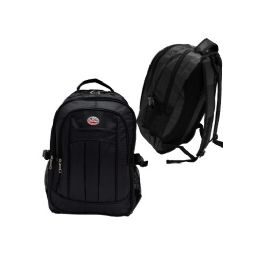 "12 Units of 19"" Deluxe Laptop BackpacK- Black - Backpacks 18"" or Larger"