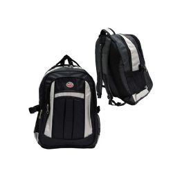 "12 Units of 19"" Deluxe Laptop BackpacK-Gray/black - Backpacks 18"" or Larger"