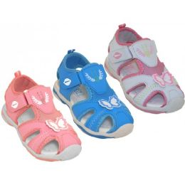 24 Units of Wholesale Toddler Velcro Sport Hiker Sandals - Girls Sandals