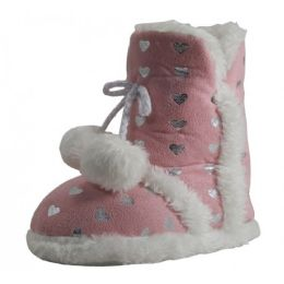 30 Units of Girls Pom Pom Bedroom Boots - Girls Boots