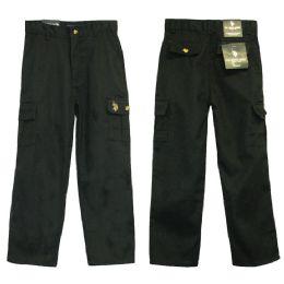24 Units of Boys Adj. Waist Cargo Pants - Boys Jeans & Pants