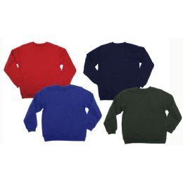 24 Units of Pull Over Crew Neck Fleece - Boys Sweaters