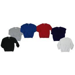 36 Units of Boys Crew Neck Fleece Sweater - Boys Sweaters