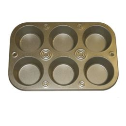 72 Units of 6 CUP MUFFIN PAN 2.9 INCHES - Baking Supplies
