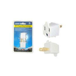 144 Units of 2leg To 3legs Adapter -White B - Chargers & Adapters