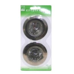 144 Units of 2PC SINK STRAINER 2.5x2.5 IN - Plumbing Supplies