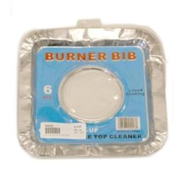 144 Units of 6 Piece Heavy Duty Square Burner Bib - Aluminum Pans