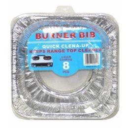 144 Units of 8PIECE BUNER BIBS SQUARE - Aluminum Pans