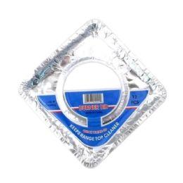 144 Units of 12PIECE SQUARAE BURNER BIB - Aluminum Pans