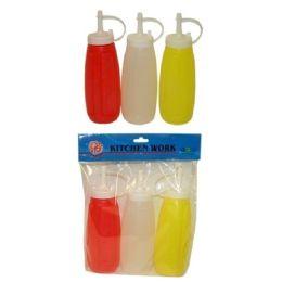 96 Units of 3 Piece Ketchup Mustard Mayo Set - Kitchen Gadgets & Tools