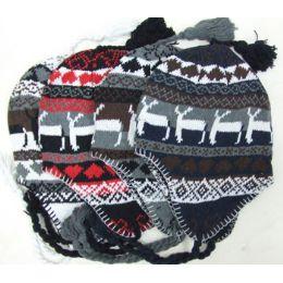 72 Units of Uni Sex Warm Fleece Ski Hat - Winter Helmet Hats