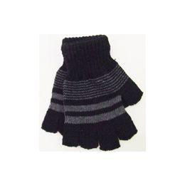72 Units of Men Fingerless Gloves - Knitted Stretch Gloves