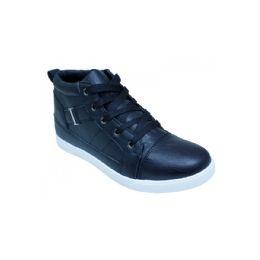 12 Units of Men Casual High Top Shoes - Black - Men's Shoes