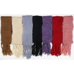 60 Units of Knit Scarf Fluffy Warm Ribbed - Winter Scarves