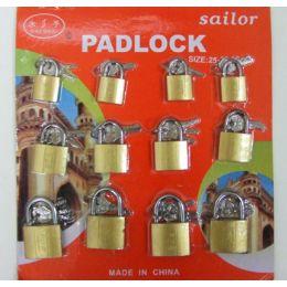 15 Units of 12 Piece Assorted Pad Locks - Padlocks and Combination Locks