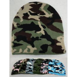 24 Units of Unisex Camo Beanie - Winter Beanie Hats