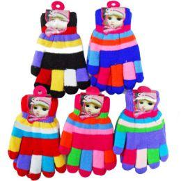 72 Units of Colorful Kids' Gloves - Kids Winter Gloves