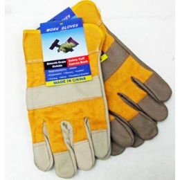 60 Units of Leather Work Gloves - Working Gloves