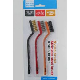 144 Units of 3 PACK Small Wire Brush - Brushes