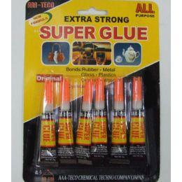 144 Units of 6 PACK Super Glue - Glue Office and School