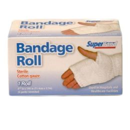 96 Units of STERILE COTTON GAUZE ROLL - Bandages and Support Wraps