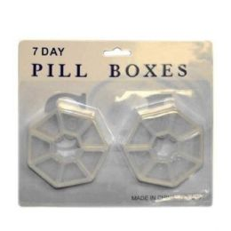 96 Units of 7 DAYS PILL BOX 2 PACK - Pill Boxes and Accesories