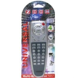 96 Units of ZOOM 4 IN 1 REMOTE CONTROL SILVER - Television Antennas & Remote Controls