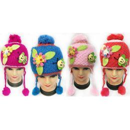 36 Units of Wholesale Kids Honey Bee and Flower Hats - Junior / Kids Winter Hats
