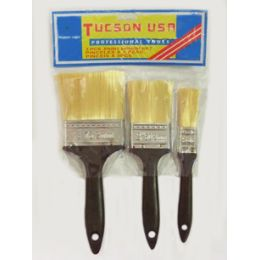 60 Units of 3pc Paint Brush Set - Paint and Supplies