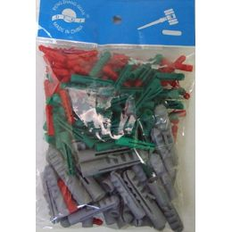120 Units of 100 pack Screw Anchors Assorted Sizes - Tool Sets